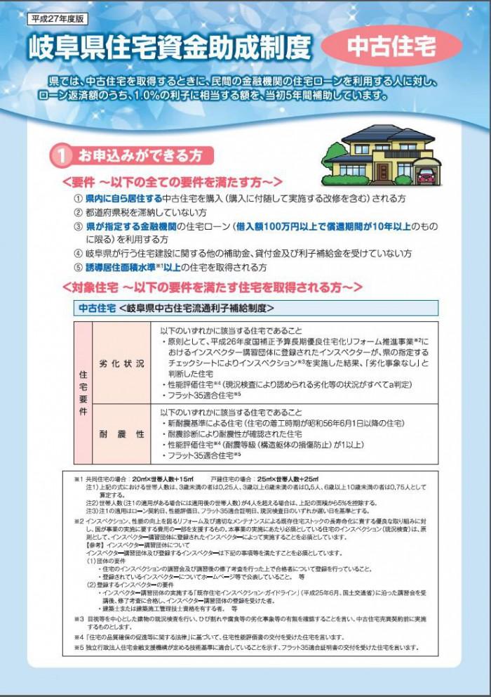 岐阜県住宅資金助成制度