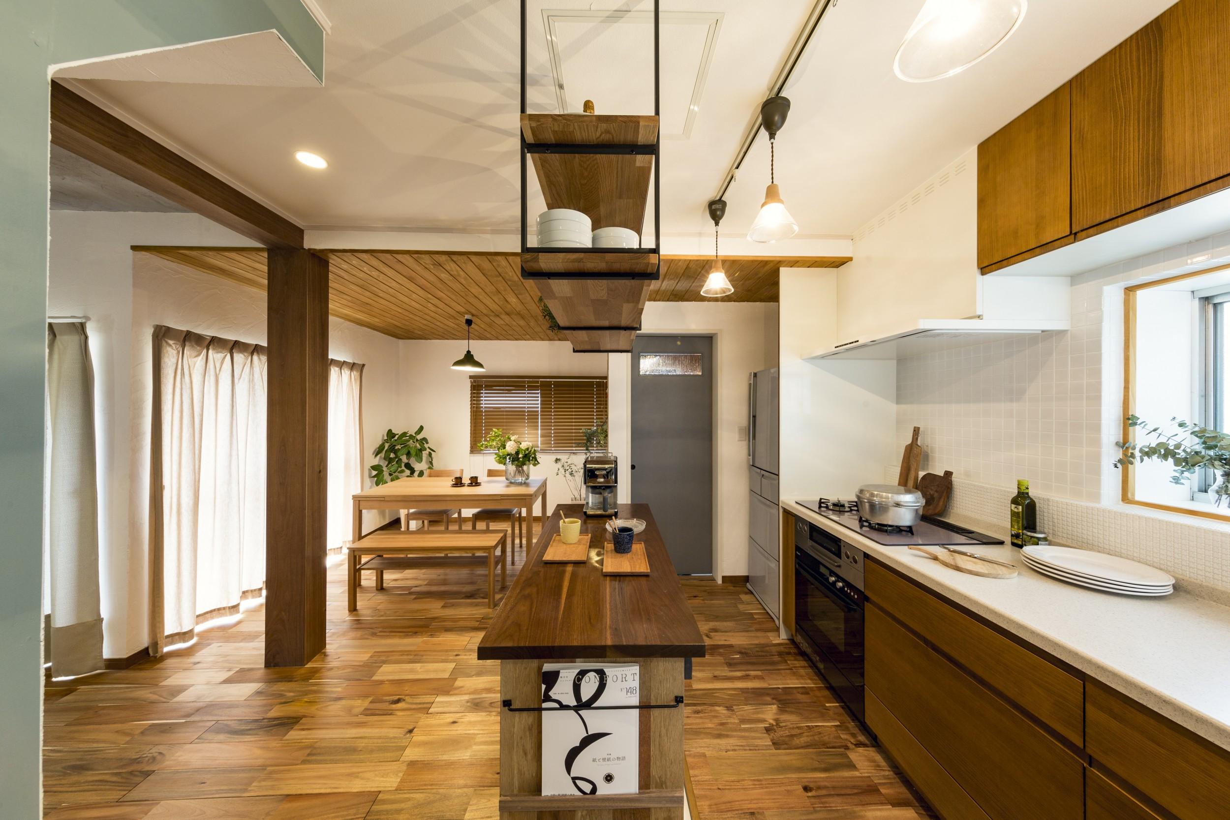 岐阜市リノベーション事例のキッチンダイニング