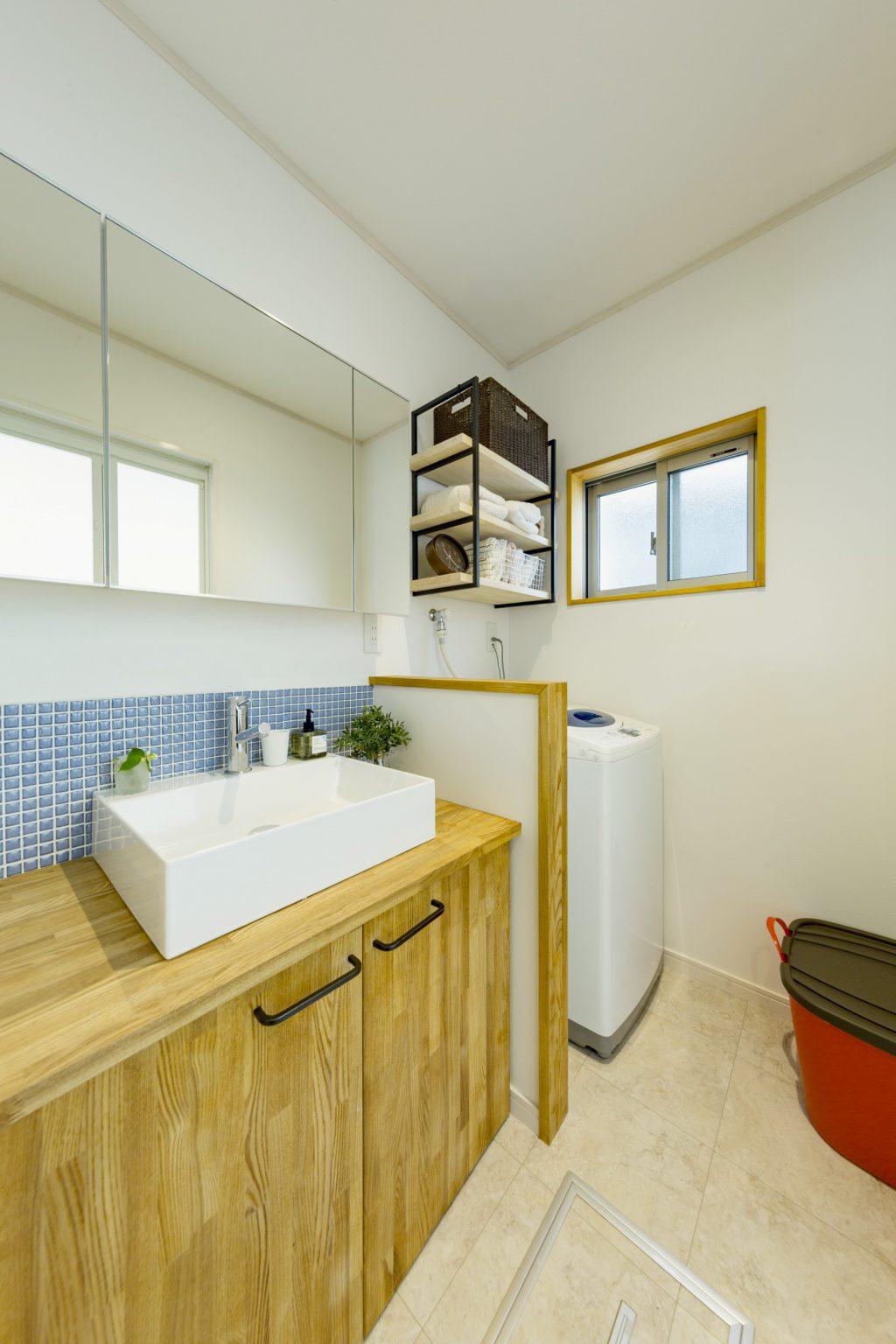 岐阜市リノベーション事例の洗面室