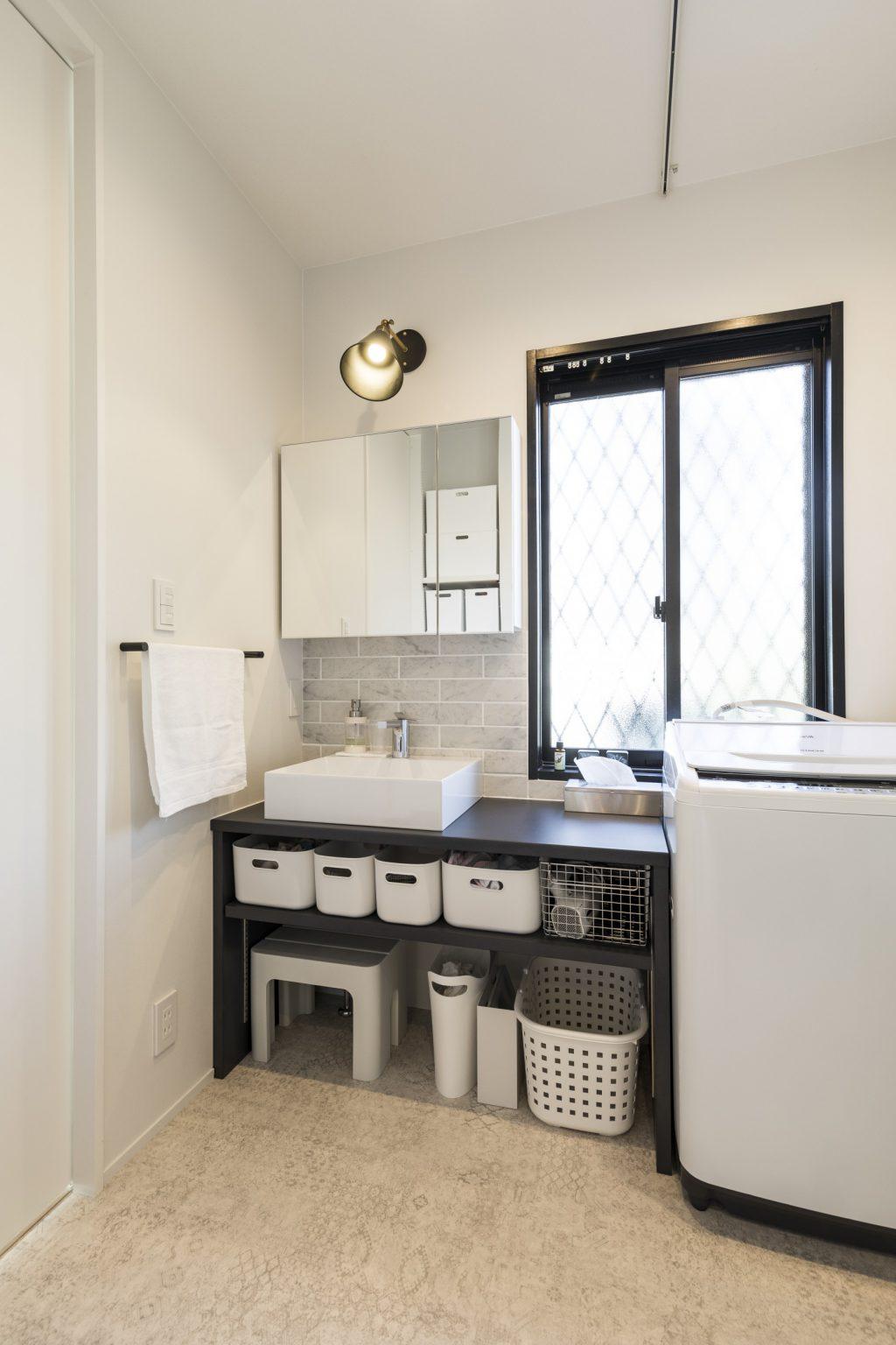 岐阜市A様邸のリノベーション事例の洗面室