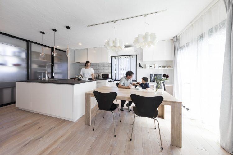 岐阜市A様邸のリノベーション事例のダイニングキッチン