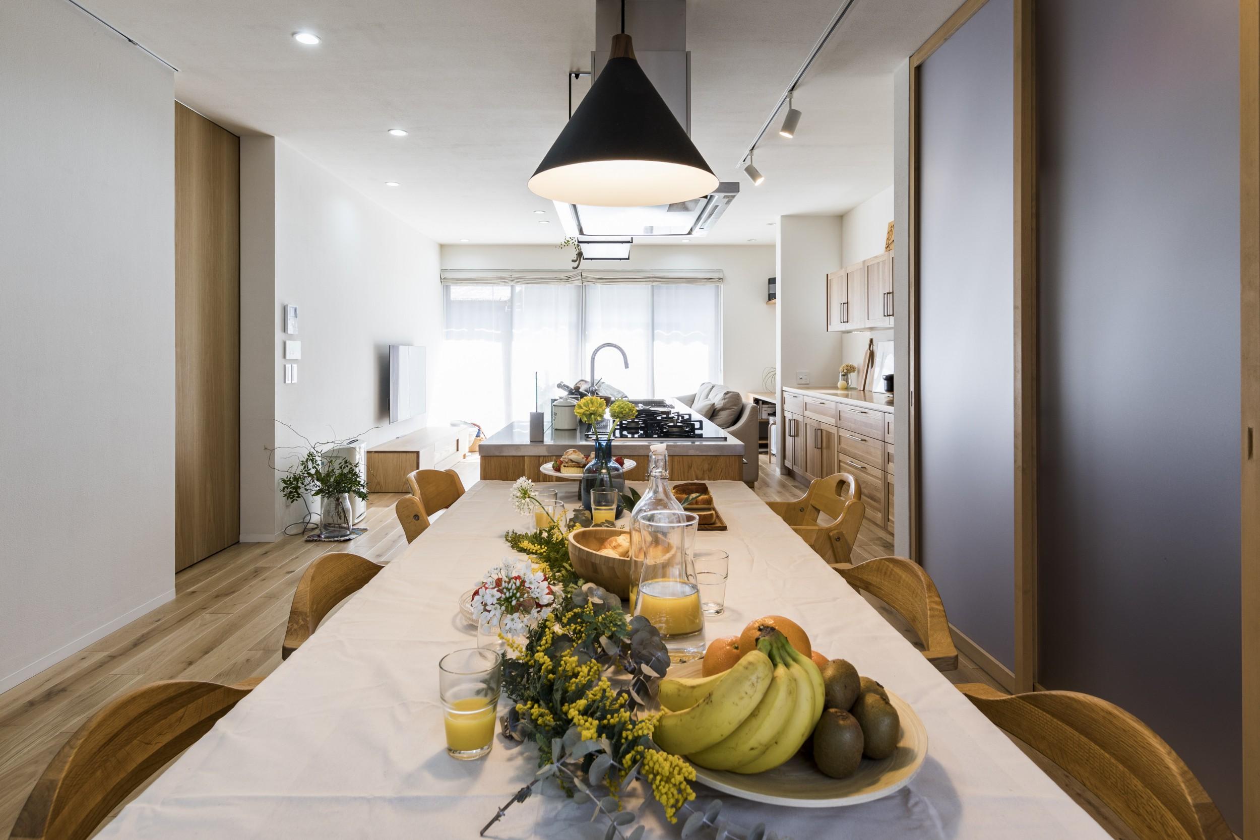 岐阜県瑞穂市の二世帯住宅リノベーション事例のLDK