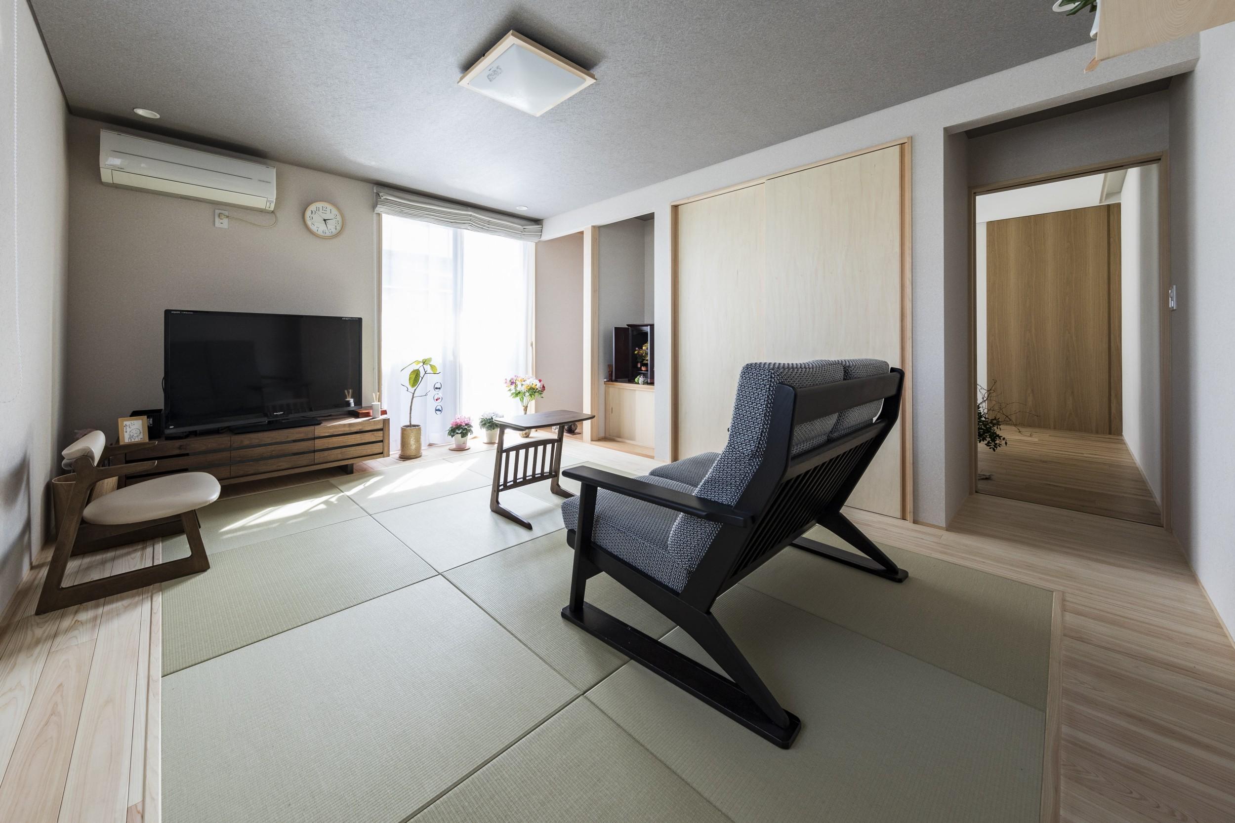 岐阜県瑞穂市の二世帯住宅リノベーション事例の和室