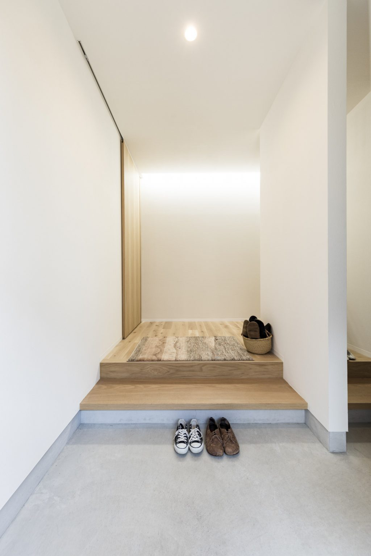 岐阜県瑞穂市の二世帯住宅リノベーション事例の玄関