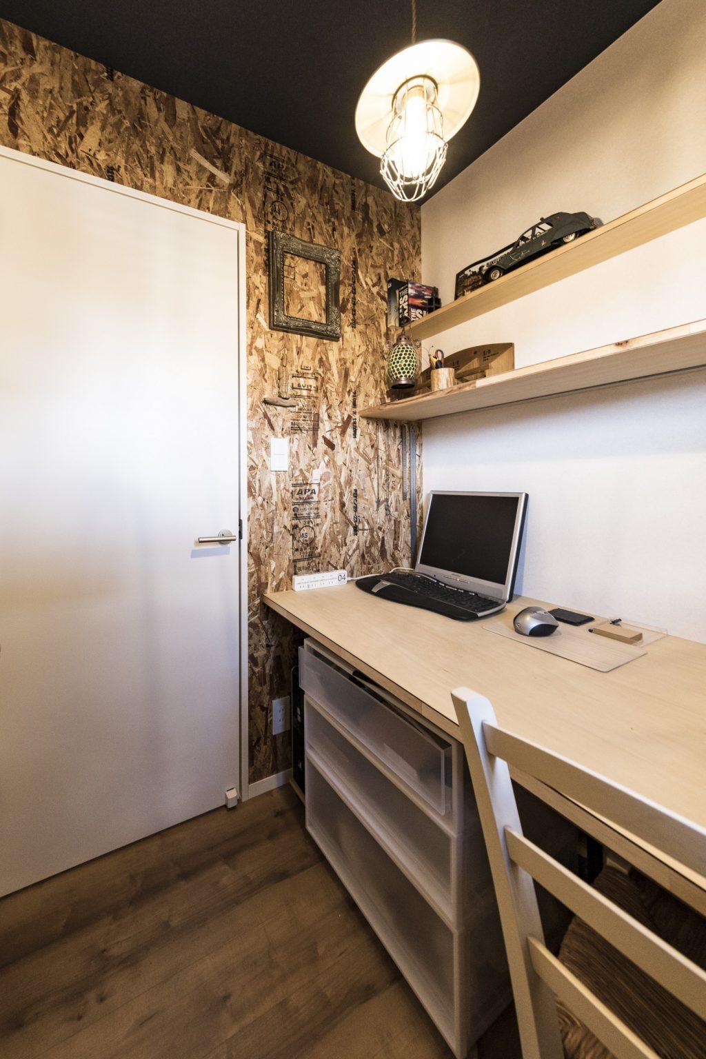 岐阜県瑞穂市の二世帯住宅リノベーション事例の書斎