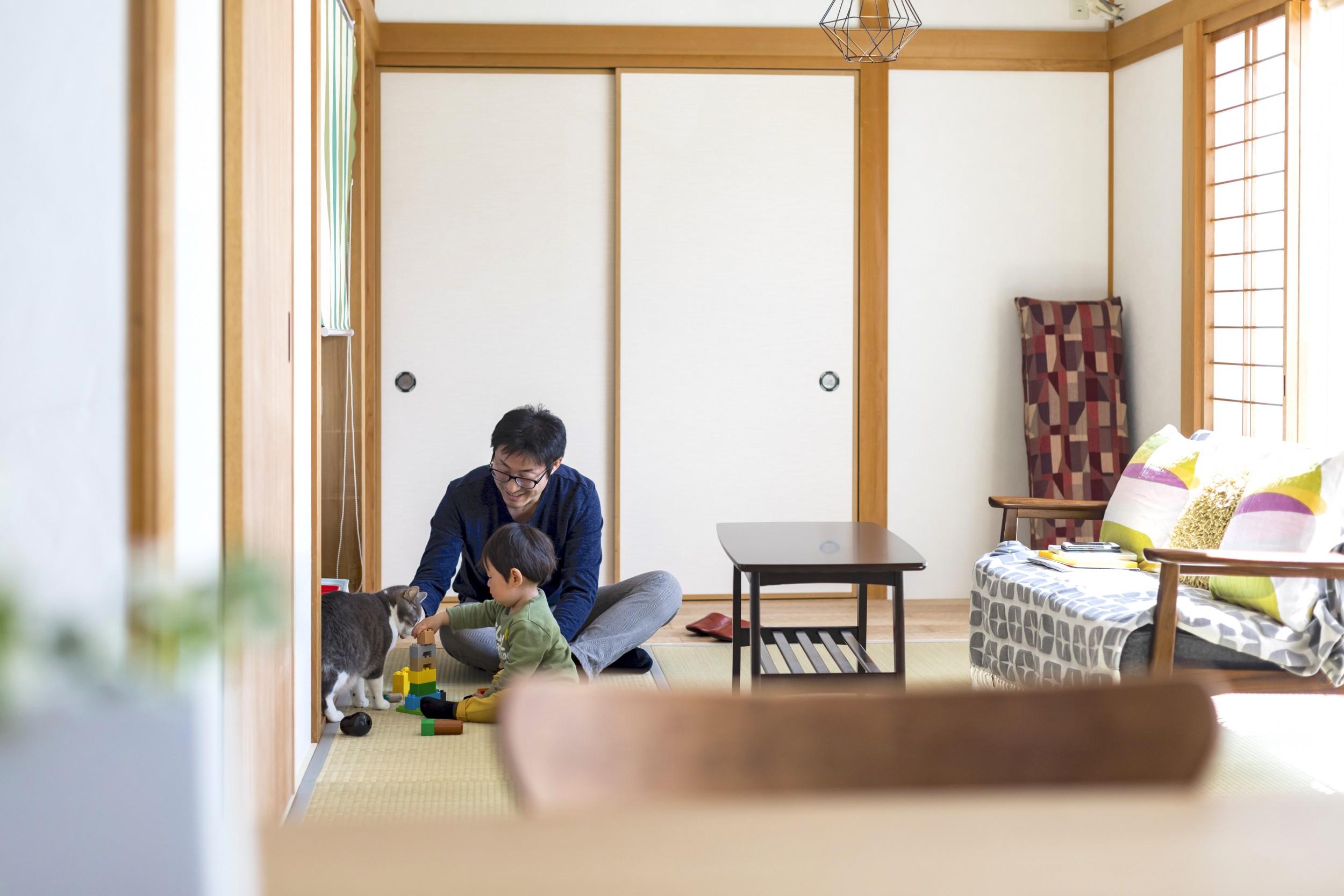 岐阜市Y様邸リノベーション事例の北欧風和室