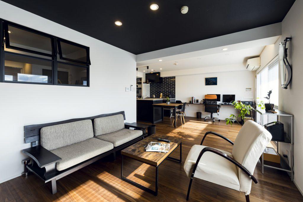 岐阜市の築20年のマンションリノベーション事例のLDK
