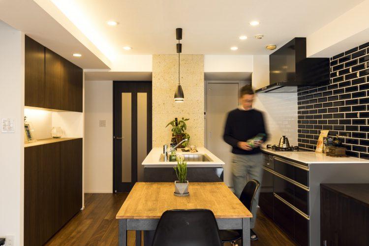 岐阜市の築20年のマンションリノベーション事例のキッチン
