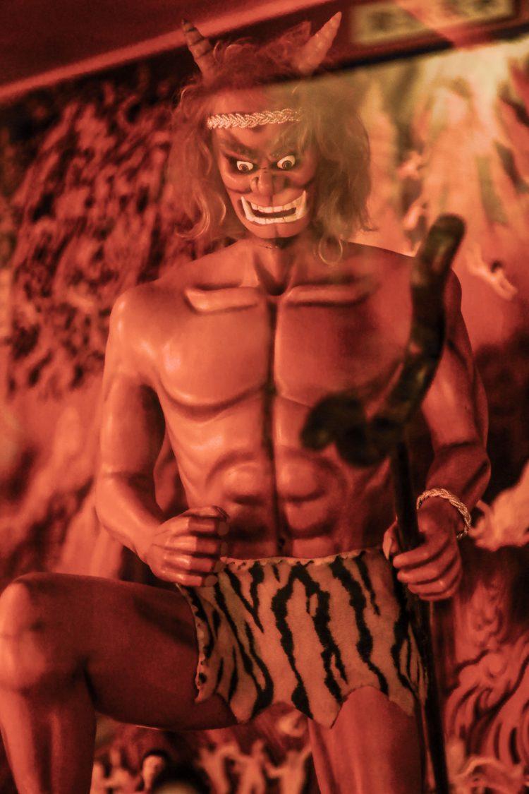 伊豆極楽苑の地獄の鬼
