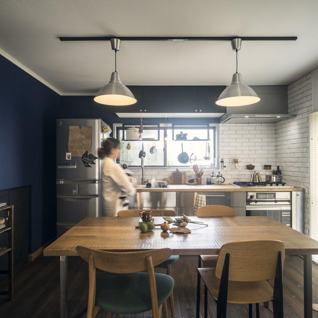 岐阜市リノベーション事例のアパルトメントをイメージしたキッチン