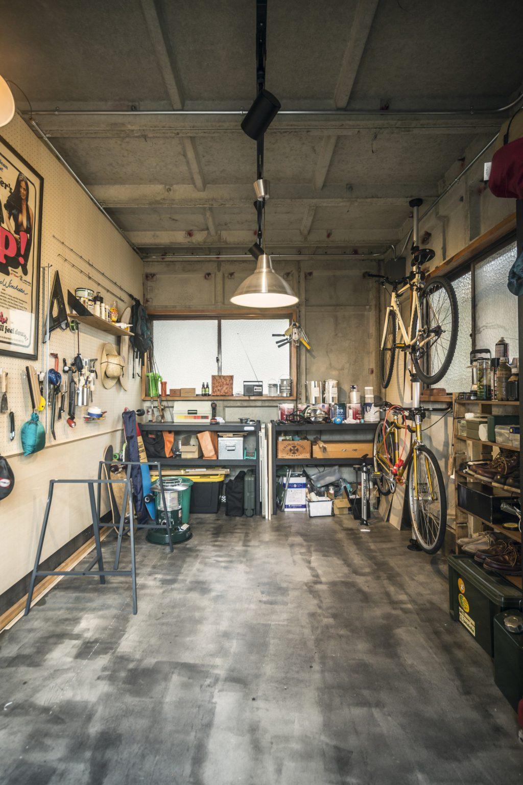 岐阜市リノベーション事例のガレージ