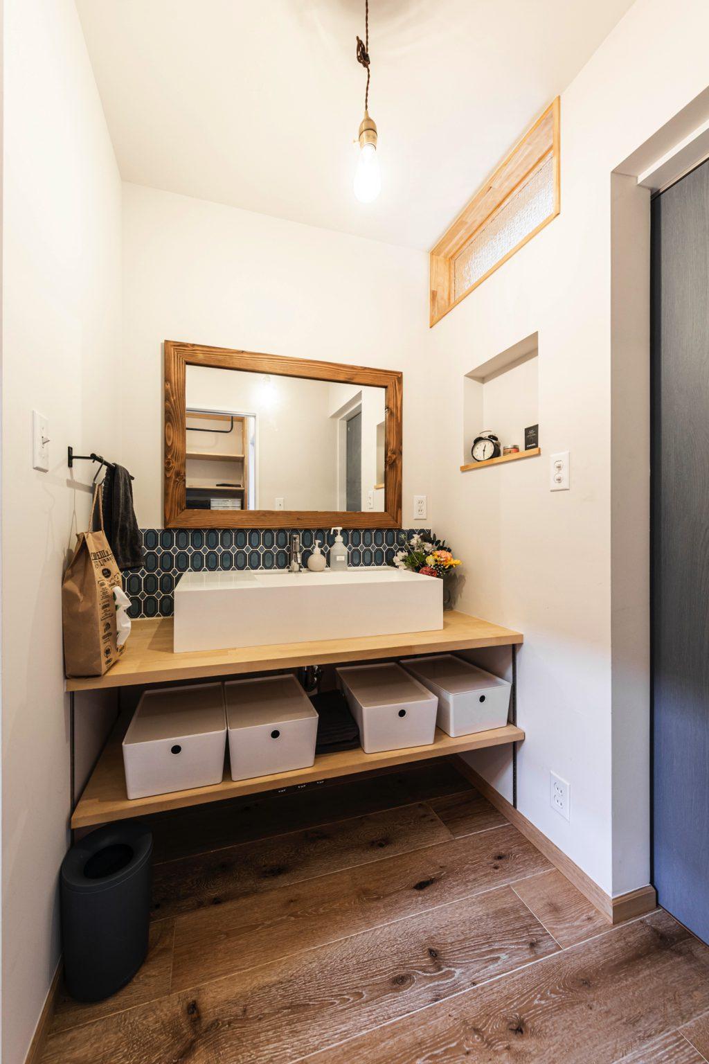 岐阜県土岐市戸建てリノベーション事例の洗面室