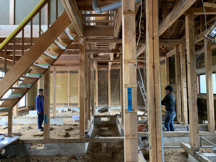 リノベーション前の木造解体