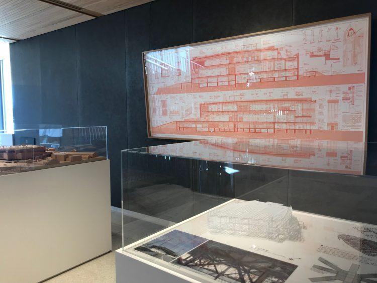 富山県美術館の模型・設計図