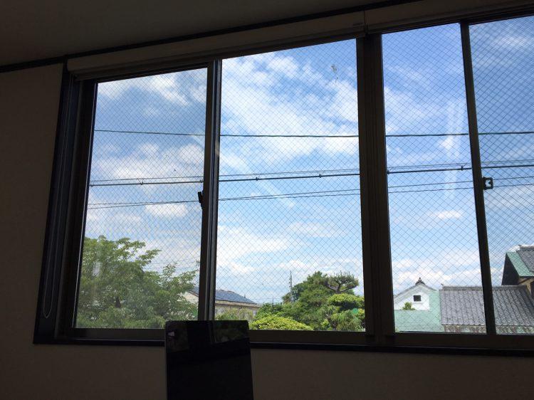 岐阜市リノベーション会社の窓の景色