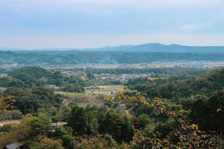 岐阜県可児市美濃金山城跡からの景色