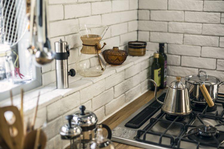 岐阜市リノベーションのおしゃれな愛用のキッチン