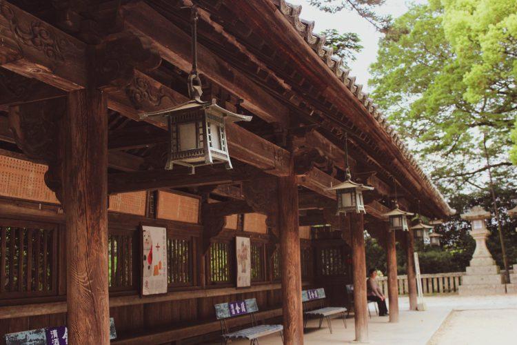香川県の金刀比羅宮の休憩所