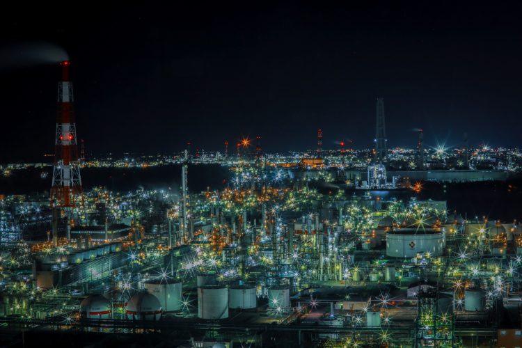 四日市コンビナートとの工場夜景02