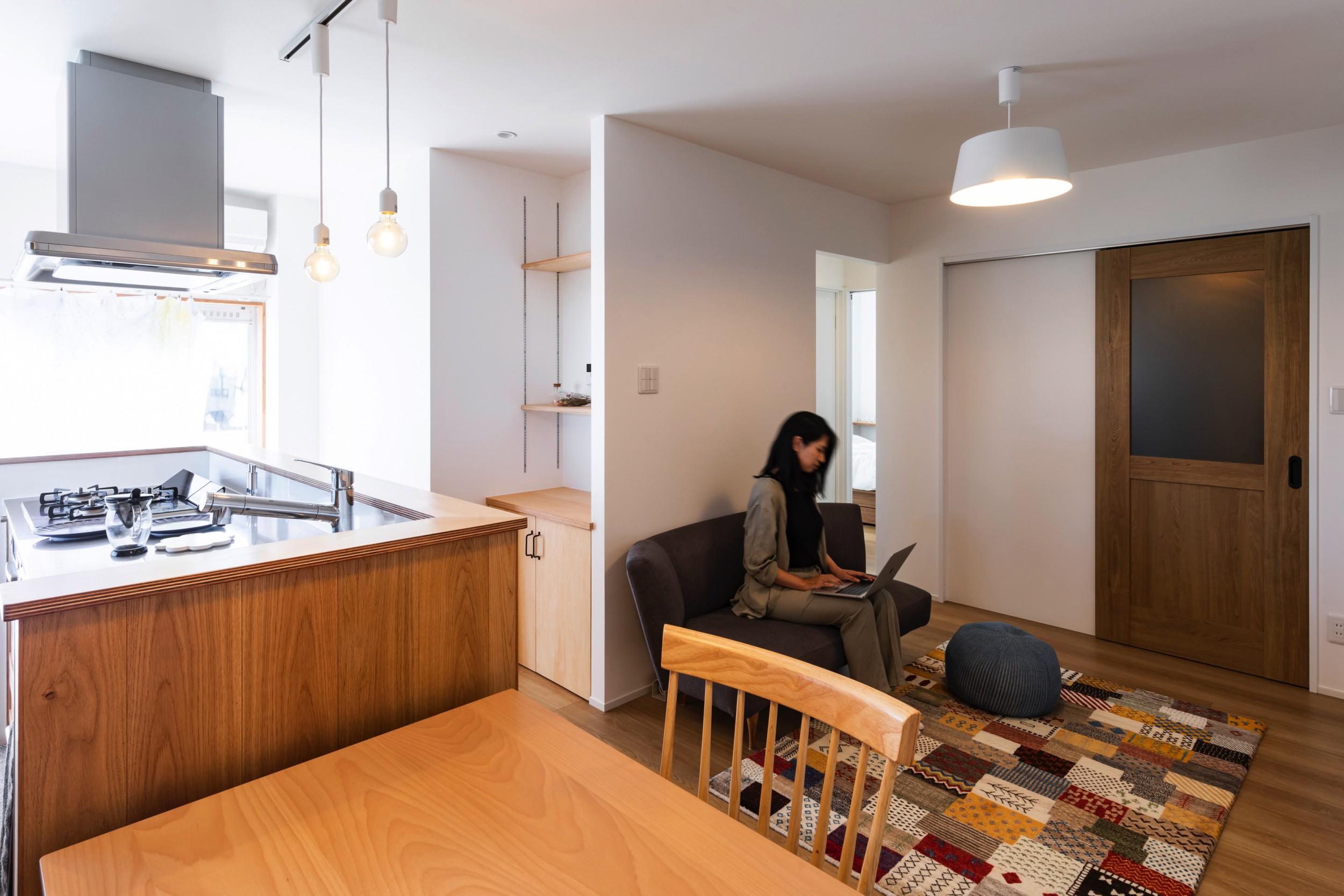 大垣市の賃貸リノベーション・リフォーム事例のリビング