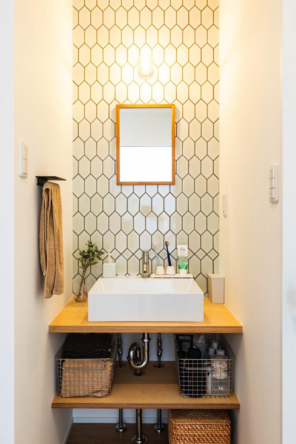 大垣市の賃貸リノベーション・リフォーム事例の洗面スペース