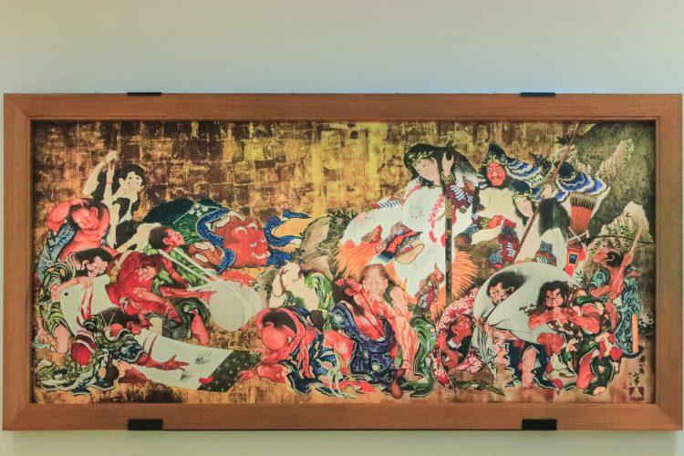 東京都墨田区にあるすみだ北斎美術館の復元図