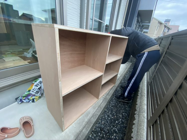 ホームセンター穂積店でカットした木材で作成した棚