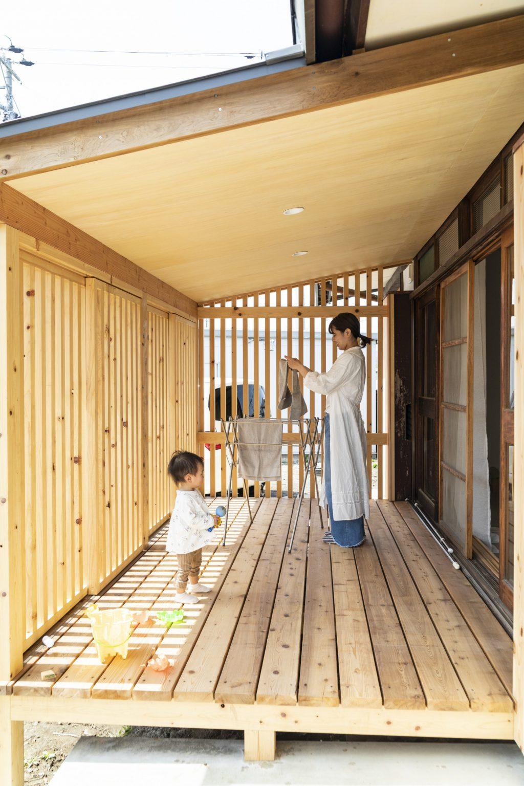 岐阜県垂井町の中古住宅購入リノベーション事例のサンルーム