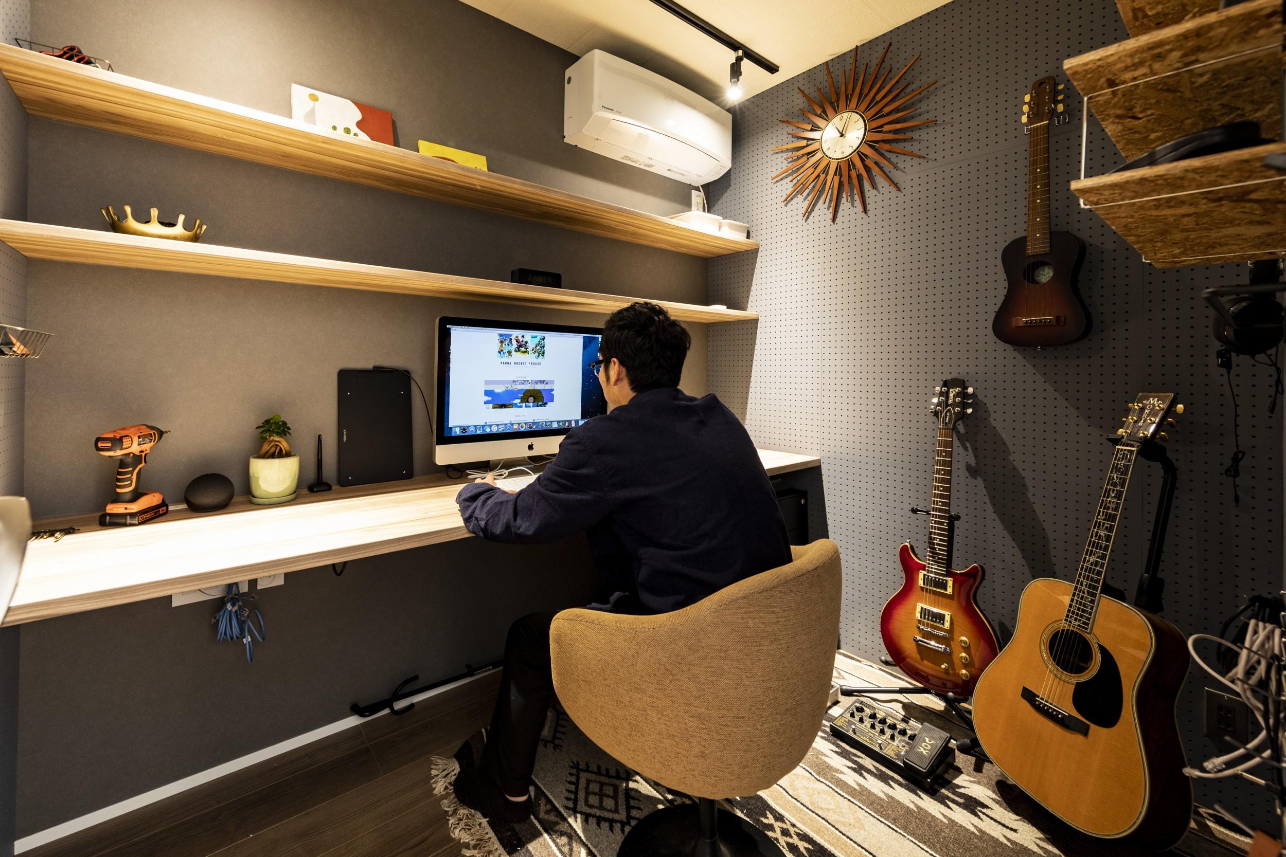 岐阜県垂井町の中古戸建て購入リノベーション事例の書斎