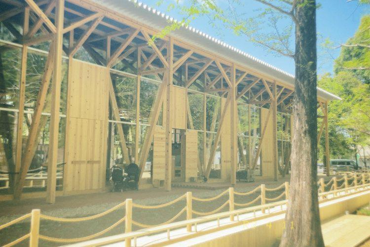 各務原学びの森の広場に新しくオープンしたパークブリッジ