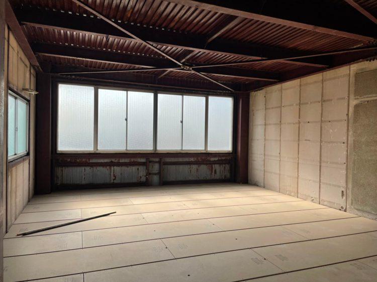 岐阜市の鉄骨造3階建てのリノベーション工事1
