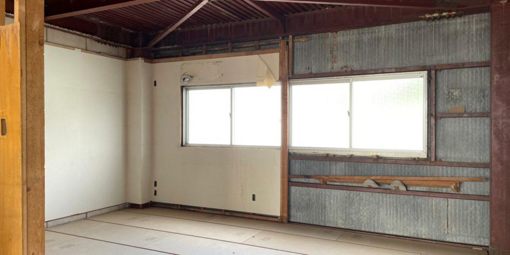 岐阜市3階建て持ち家フルスケルトンリノベーションの解体現場写真