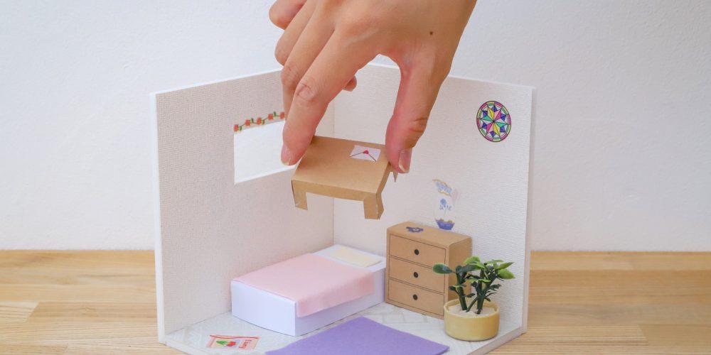 岐阜市リノベーション会社の夏休み子供向けワークショップのミニチュア模型